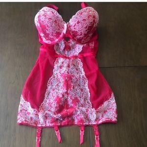 Victoria's Secret Red Lace Lingerie garter 36D